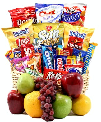 Classic Snack Gift Basket with Fruit