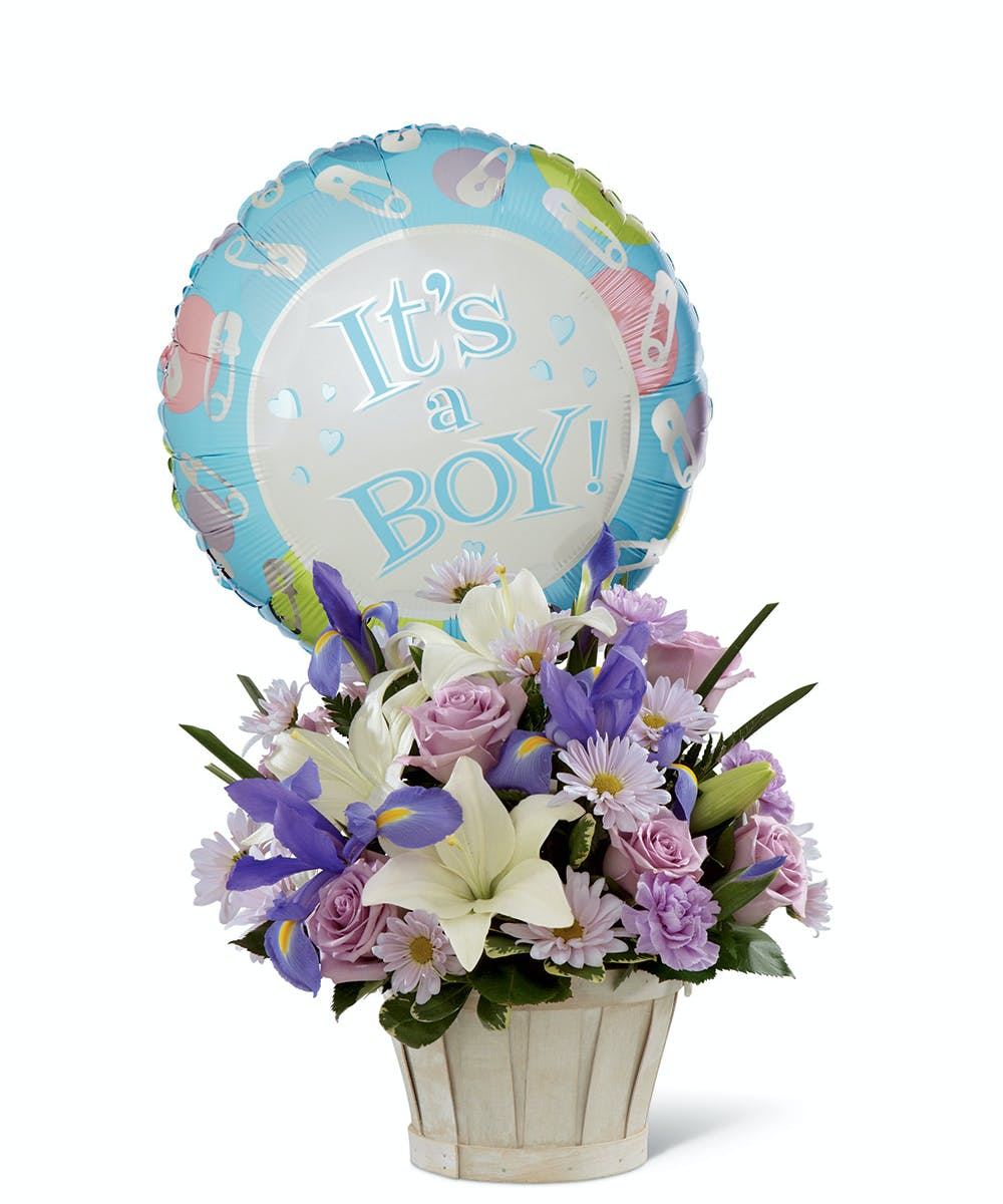 Baby boy flowers ballon by nortons florist hoover izmirmasajfo