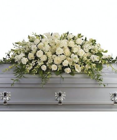Purity peace casket flowers birmingham al funeral florist purity and peace casket spray mightylinksfo