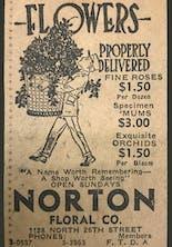 A Norton's newspaper ad, promising fine roses for $1.50 a dozen